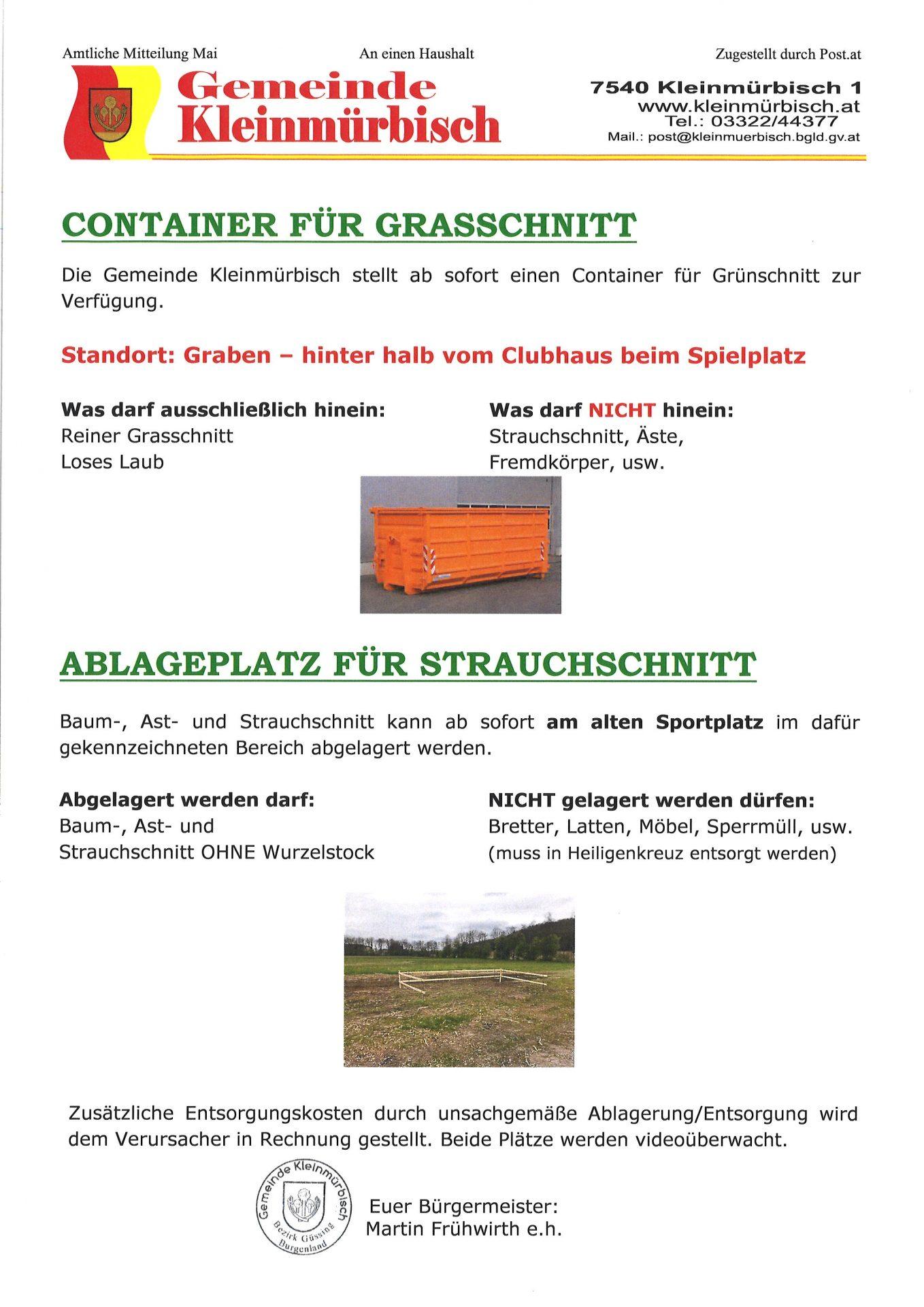 Gemeinde schafft Lagerplatz für Grün- und Strauchschnitt